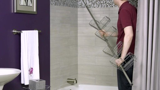zenna home tension corner pole shower caddy image 10 from the video