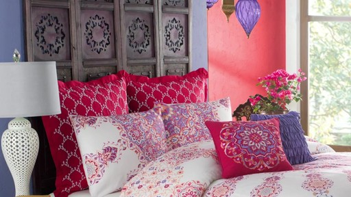 anthology melody reversible comforter and bedding collection » bed