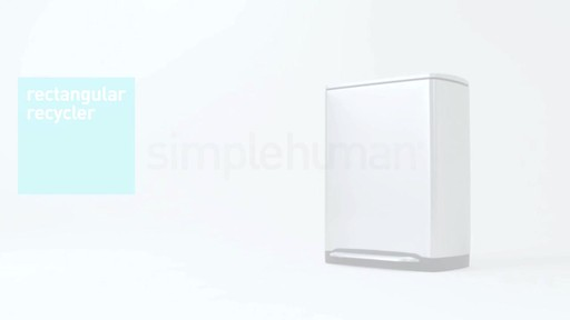 simplehuman rectangular recycler - image 10 from the video