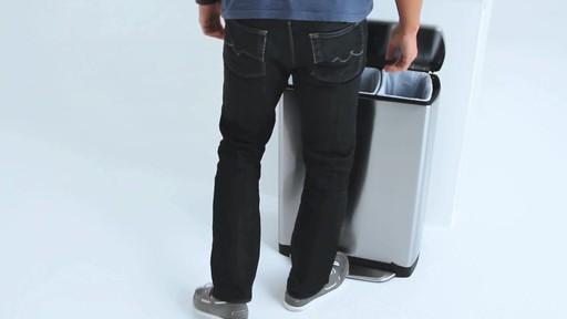 simplehuman rectangular recycler - image 6 from the video