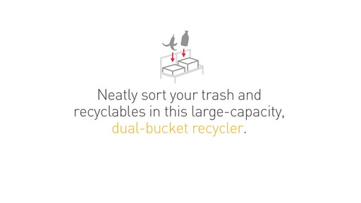 simplehuman rectangular recycler - image 8 from the video