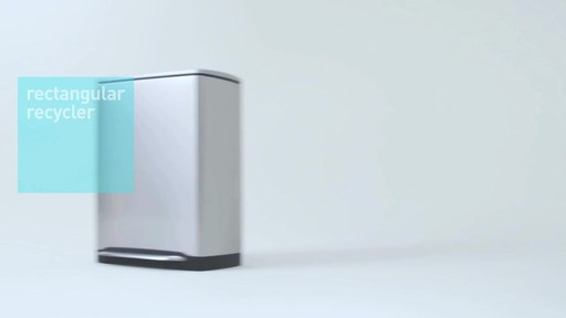 simplehuman rectangular recycler - image 9 from the video
