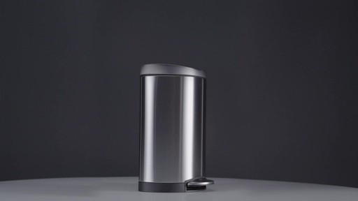 simplehuman® Stainless Steel Semi-Round 10-Liter Step-On Trash Can - image 1 from the video