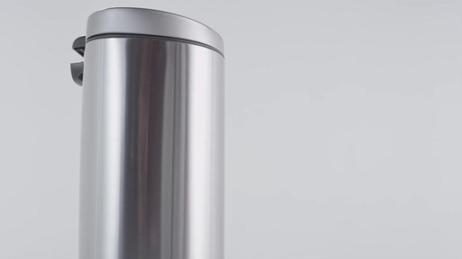simplehuman® Stainless Steel Semi-Round 10-Liter Step-On Trash Can - image 2 from the video