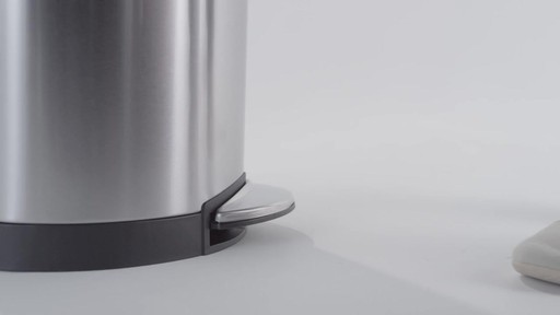 simplehuman® Stainless Steel Semi-Round 10-Liter Step-On Trash Can - image 3 from the video