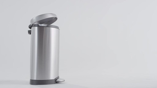 simplehuman® Stainless Steel Semi-Round 10-Liter Step-On Trash Can - image 5 from the video