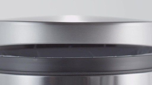 simplehuman® Stainless Steel Semi-Round 10-Liter Step-On Trash Can - image 6 from the video
