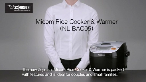 Zojirushi Micom 3-Cup Rice Cooker & Warmer - image 1 from the video
