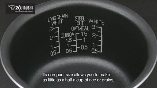 Zojirushi Micom 3-Cup Rice Cooker & Warmer - image 4 from the video