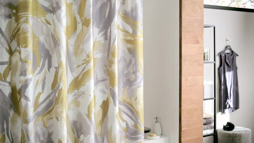 Kenneth Cole Reaction Home Swirl Shower Curtain - image 3 from the video