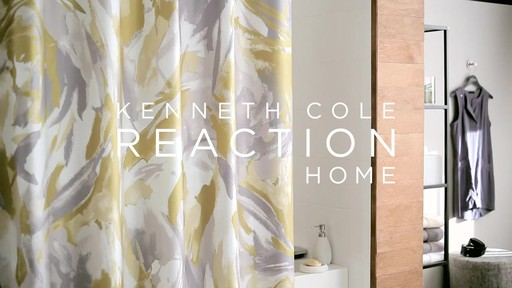 Kenneth Cole Reaction Home Swirl Shower Curtain - image 8 from the video