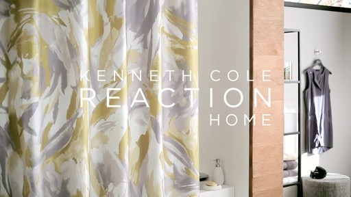 Kenneth Cole Reaction Home Swirl Shower Curtain - image 9 from the video