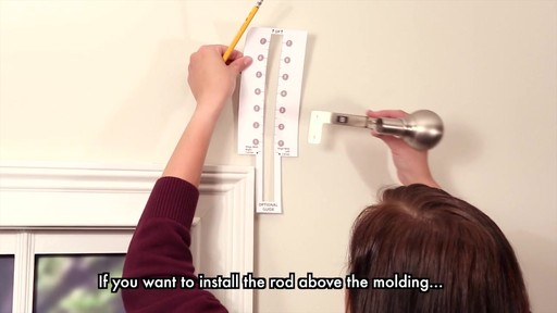 Curtain Rods best way to install curtain rods : Maytex Smart Rods Easy Install Curtain Rods » Bed Bath & Beyond Video
