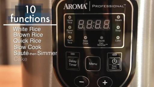 Aroma Professional® 20-Cup Rice Cooker - image 1 from the video
