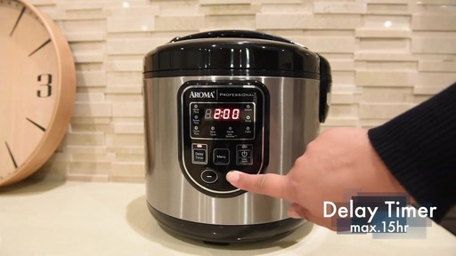 Aroma Professional® 20-Cup Rice Cooker - image 3 from the video