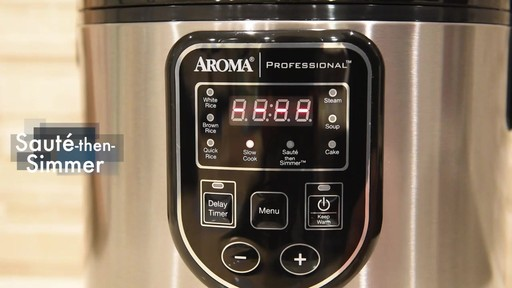 Aroma Professional® 20-Cup Rice Cooker - image 4 from the video