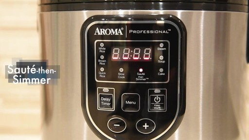 Aroma Professional® 20-Cup Rice Cooker - image 5 from the video