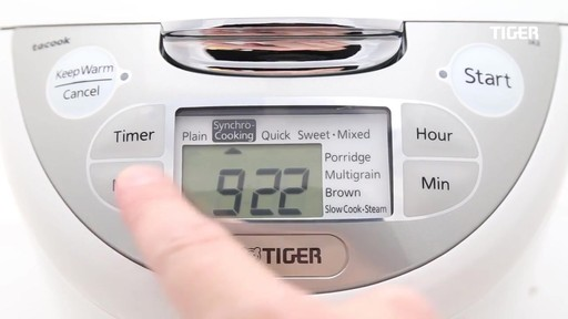 Tiger 5.5-Cup Multi-Functional Rice Cooker and Warmer - image 6 from the video