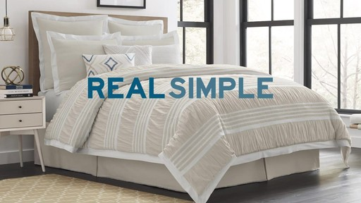 Real Simple Harper Comforter and Bedding Ensemble - image 10 from the video