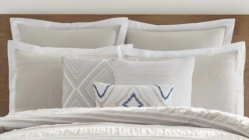 Real Simple Harper Comforter and Bedding Ensemble - image 2 from the video
