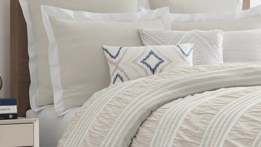 Real Simple Harper Comforter and Bedding Ensemble - image 5 from the video