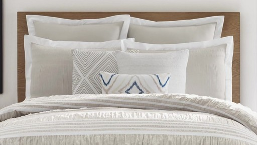 Real Simple Harper Comforter and Bedding Ensemble - image 6 from the video