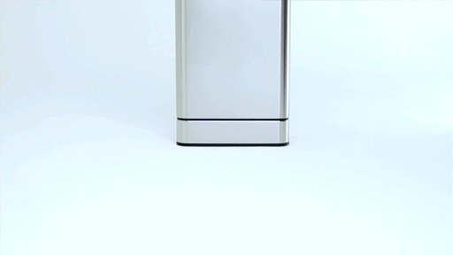 simplehuman® 40-Liter Rectangular Brushed Stainless Steel Sensor Trash Can - image 1 from the video