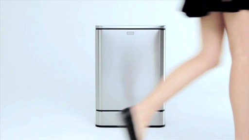 simplehuman® 40-Liter Rectangular Brushed Stainless Steel Sensor Trash Can - image 2 from the video