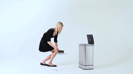 simplehuman® 40-Liter Rectangular Brushed Stainless Steel Sensor Trash Can - image 4 from the video