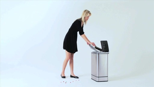 simplehuman® 40-Liter Rectangular Brushed Stainless Steel Sensor Trash Can - image 5 from the video