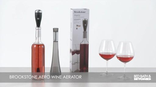 Brookstone Aero Wine Aerator 187 Bed Bath Amp Beyond Video