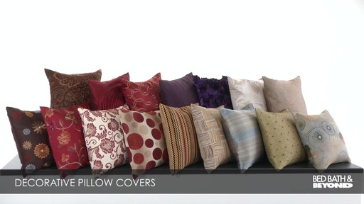 decorative toss pillow covers image 9 from the video - Decorative Pillows For Bed