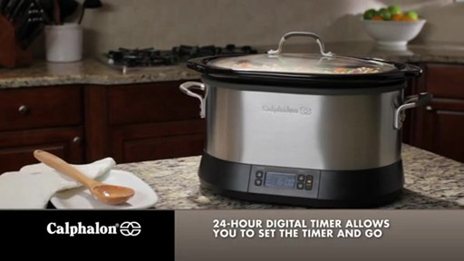 Calphalon 7-Quart Digital Slow Cooker - image 5 from the video