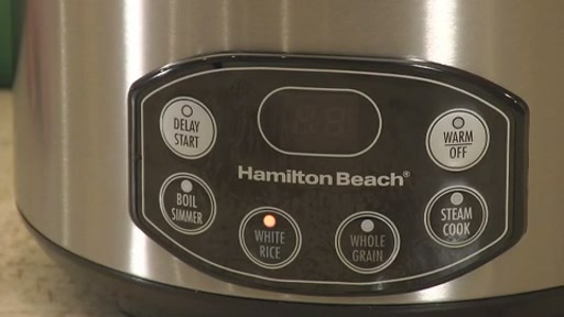 Hamilton Beach Digital Simplicity Deluxe Rice Cooker/Steamer - image 5 from the video