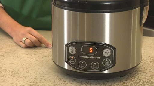 Hamilton Beach Digital Simplicity Deluxe Rice Cooker/Steamer - image 9 from the video