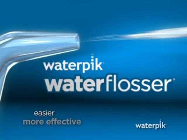 waterpik water flossing dental bed bath beyond video. Black Bedroom Furniture Sets. Home Design Ideas