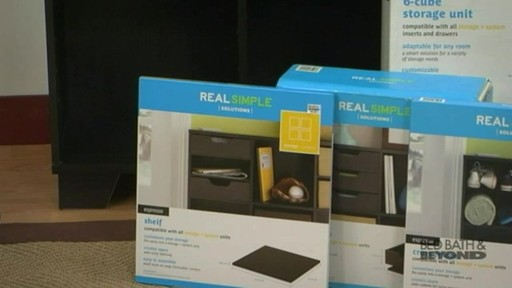 Real Simple 6 Cube Storage Unit 187 Bed Bath Amp Beyond Video