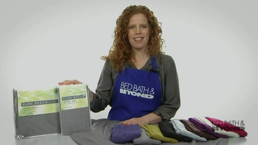 Pure Beech Jersey Knit Sheet Set - image 10 from the video