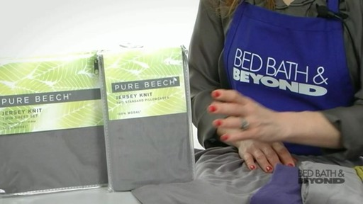 Pure Beech Jersey Knit Sheet Set - image 2 from the video