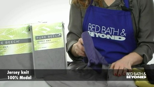 Pure Beech Jersey Knit Sheet Set - image 3 from the video