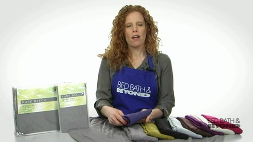 Pure Beech Jersey Knit Sheet Set - image 8 from the video
