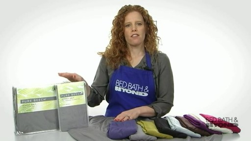 Pure Beech Jersey Knit Sheet Set - image 9 from the video