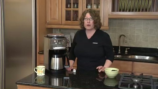 cuisinart coffee maker self cleaning instructions