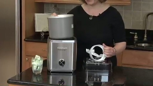 cuisinart ice cream maker instructions video