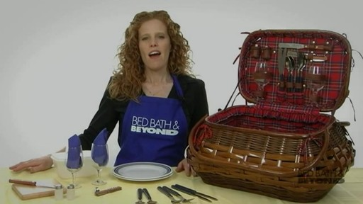 Sandringham Deluxe Red Tartan Picnic Basket  - image 1 from the video