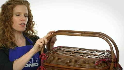 Sandringham Deluxe Red Tartan Picnic Basket  - image 2 from the video