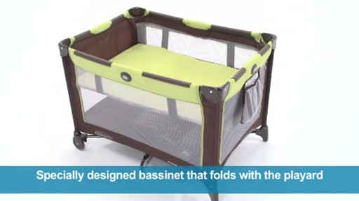 graco on the go travel pack n play bed bath beyond video. Black Bedroom Furniture Sets. Home Design Ideas