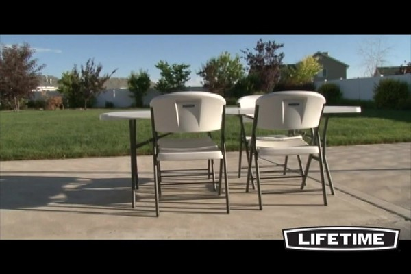 Lifetime 174 Folding Chairs 32 Pk With Cart 187 Welcome To