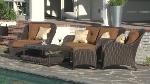 Rossano 6 Piece Patio Deep Seating Set   Image 1 From The Video