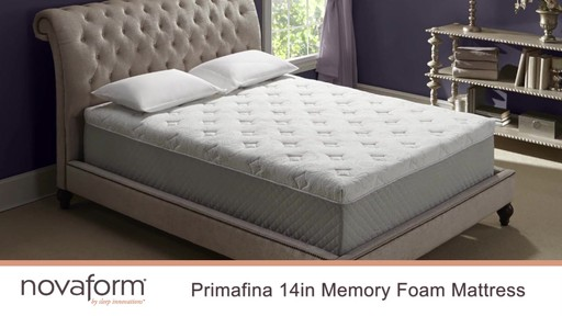 Novaform 14 Primafina Gel Memory Foam Mattress Video Gallery